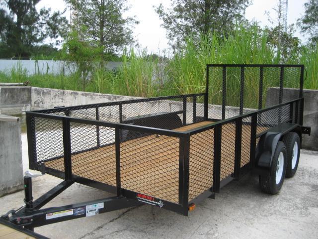*U35* 6.5x14 Utility Trailer Tandem 3500# Axles w/Ramp 6.5 x 14   U78-14T3-0B-AR/2M