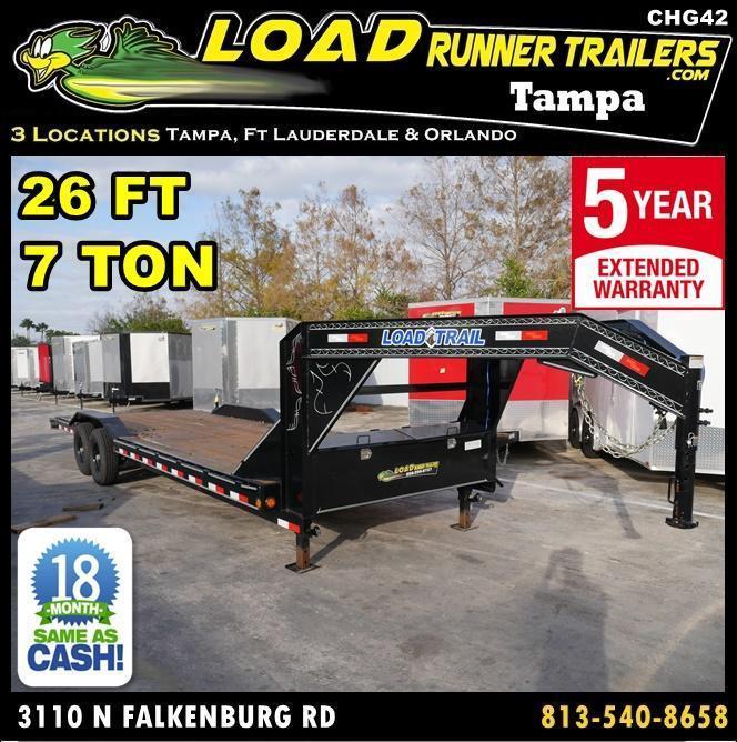 *CHG42* 8.5x26 Trailer Gooseneck Car Haulers Hauler Trailers 8.5 x 26 | CHG102-26T7-DOF