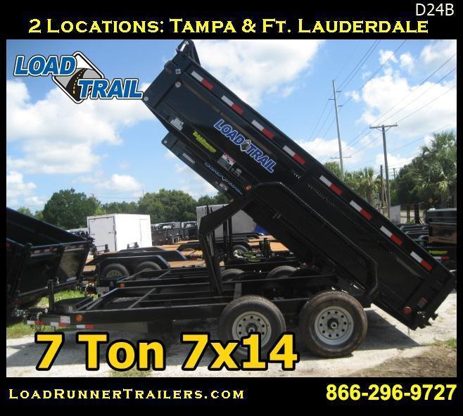 *D24B* 7x14 14K Dump Trailer  7 TON Load Trail 7 x 14 | D83-14T7-24S
