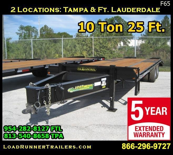*F65* 8.5x25 10 TON Flatbed Trailer Pintle Lunette Eye Military 8.5 x 25   FP102-25T10-LP/FF