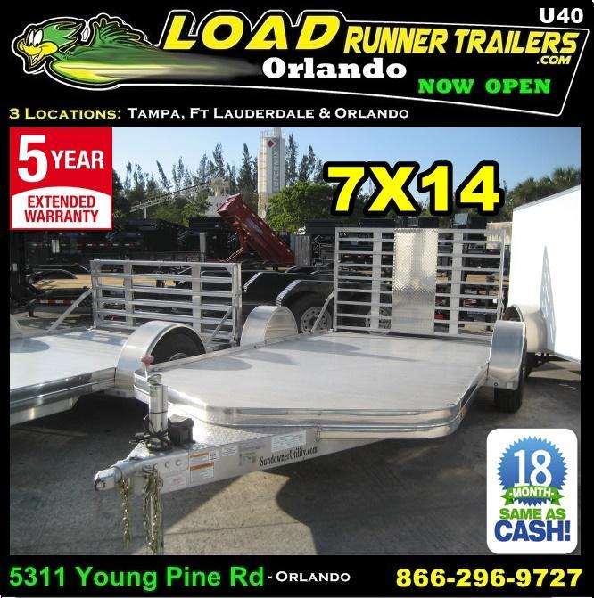 *U40* 7x14 Sundowner Motorcycle Trailer|All Aluminum 7 x 14 | U81-14S3T-1B-BFG