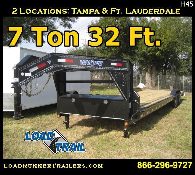 *H45* 8.5x32 Load Trail Gooseneck Trailer Car Hauler 8.5 x 32 | CHG102-32T7-DOF