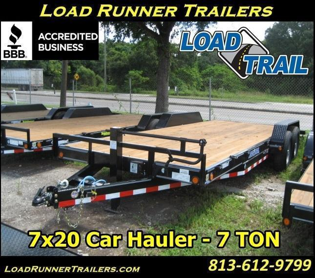 H78| 7x20 Car / Equipment Hauler  Trailer w/Removable Fenders 7 TON | H78