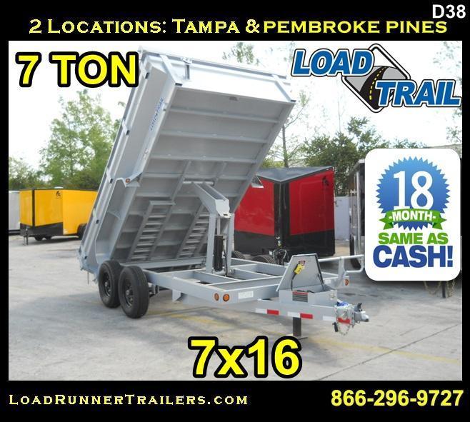 *D38* 7x14 Load Trail King Dump Trailer 7 TON Trailers 7 x 14 | DK83-14T7-24S