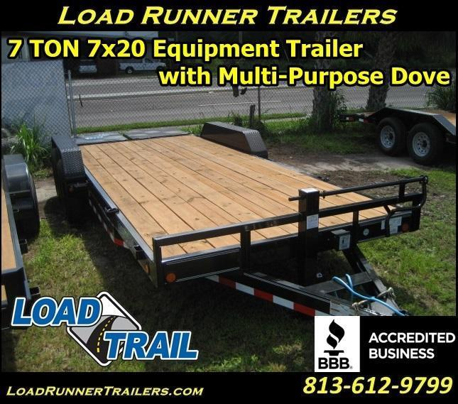 *H76* 7x20 Equipment Hauler Trailer 7 TON Haulers 7 x 20 | EQ83-20T7-MPD