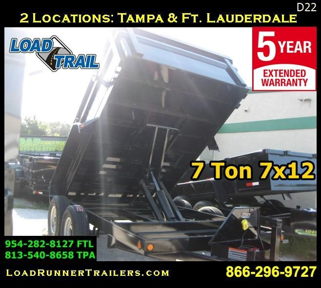 *D22* 6x12 5 TON Load Trail Dump Trailer | Load Runner Trailers