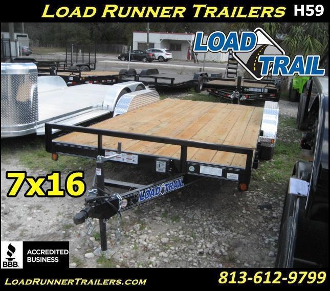 *H59* 7x16 Car Hauler Trailer Load Trail Trailers 7 x 16 | CH83-16T3-2B