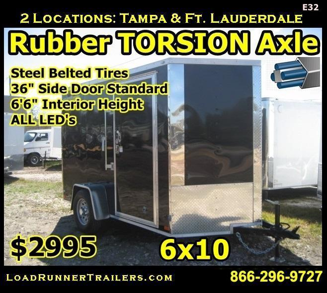 E32| 6x10 | LR Trailers *Enclosed*Trailer*Cargo*Hauler* | 6 X 10