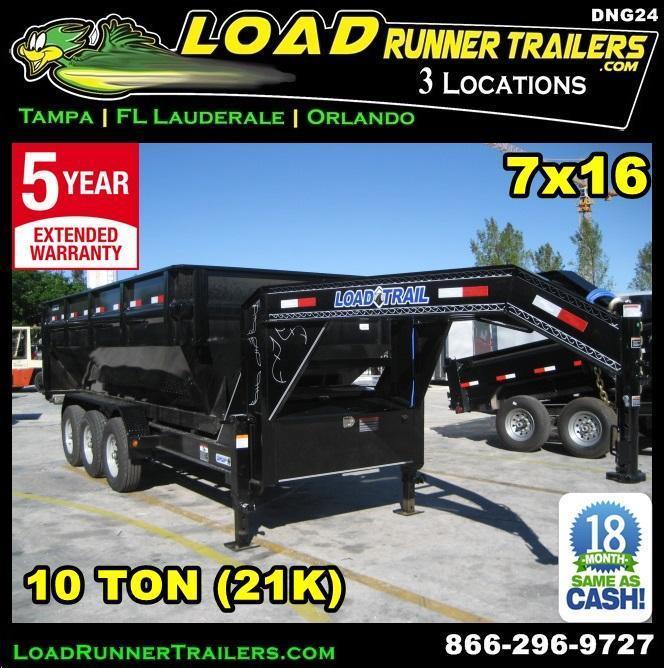 *DNG24* 7x16 Triple Axle Drop N Go Dump Trailer Frame | LR Trailers 7 x 16 | DNG/DG83-16TT7-FRAME