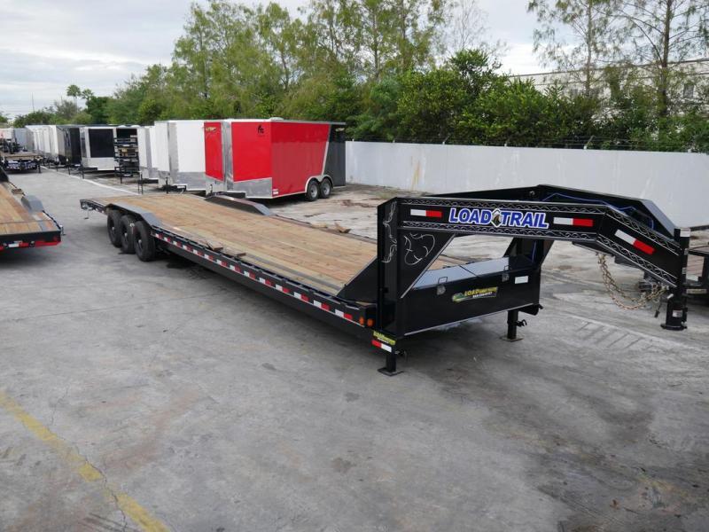 *107251* 8.5x40 Load Trail Gooseneck Car Trailer |LRT Tandem Axle Trailers 8.5 x 40 | CHG102-40TT7-DOF