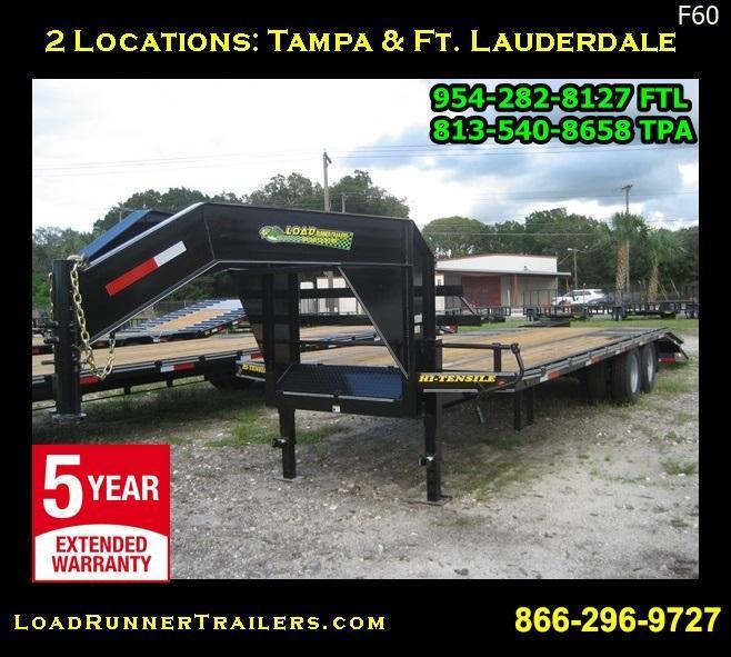 *F60* 8.5x25 Gooseneck 10-Ton Low-Profile W/ Dove Tail 8.5 x 25   FG102-25T10-LP/FF
