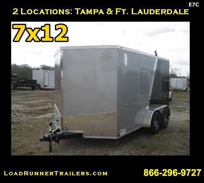 E7C| 7x12 Tandem Axle*Enclosed*Trailer*Cargo* | LRTrailers | 7 x 12 | E7C