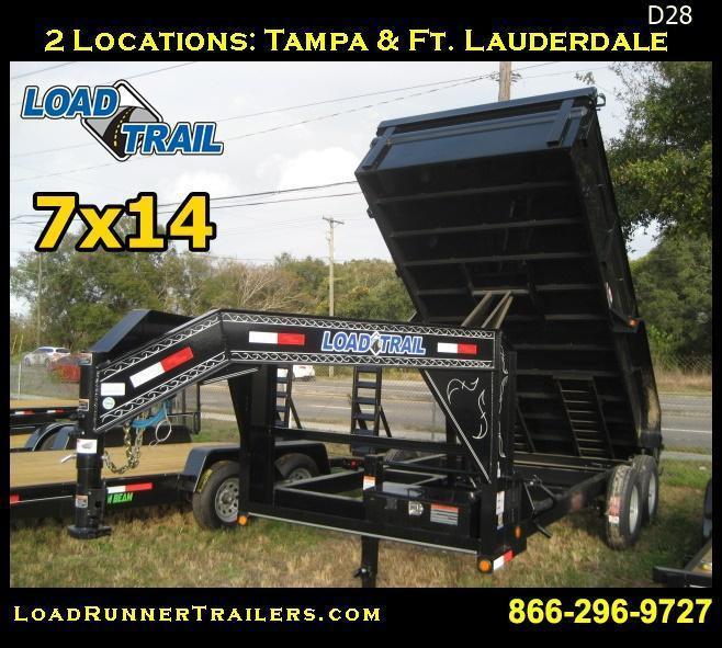 *D28* 7x14 Dump Trailer 14K 7 TON Gooseneck | DG83-14T7-24S | 7 x 14