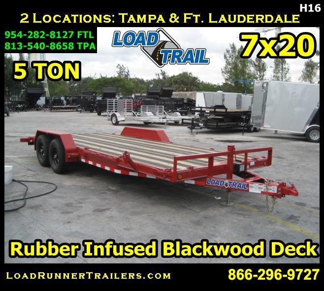 *H16* 7x20 Rubber Infused Blackwood  Car Hauler Trailer 7 x 20 | CH83-20T5-2B-BWD