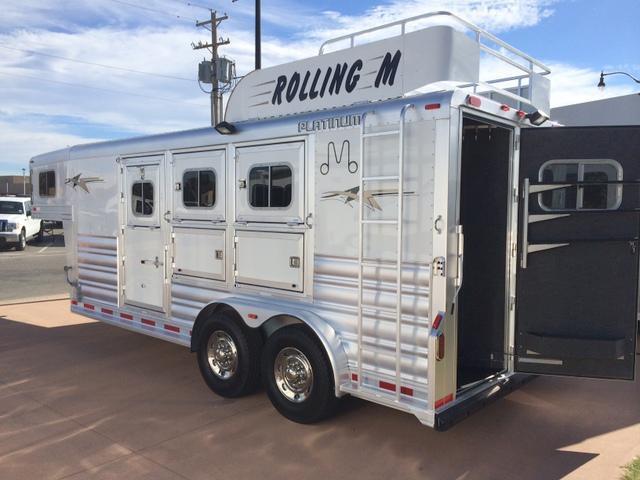 2015 Platinum Coach 3 Horse Gooseneck Horse Trailer