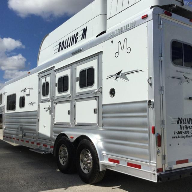 2017 Platinum Coach 3 HORSE 12 FT SHORT WALL *GENERATOR* Horse Trailer