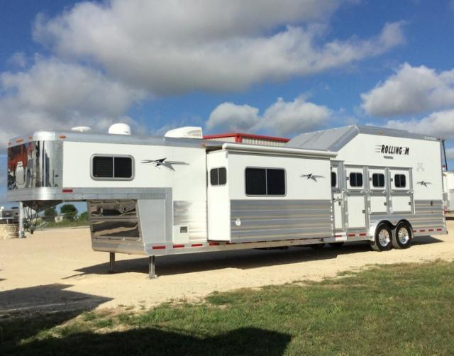 2016 Platinum Coach 4 Horse 15' Short Wall Side Load with Equiflex Flooring & Integrated Hay Pod & SLide Out Horse Trailer