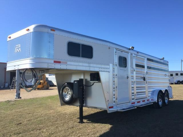 2015 Platinum Coach 3 Horse Stock Combo Trailer