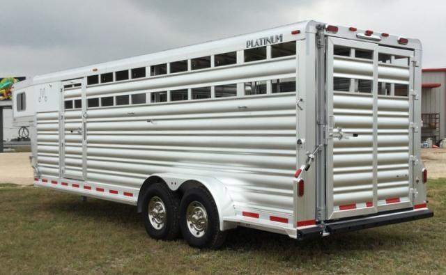 2017 Platinum Coach 24 FT COMBO SPORT Livestock Trailer