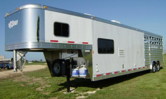2015 Exiss 30 Stock Combo 10 6 Short Wall Stock / Stock Combo Trailer