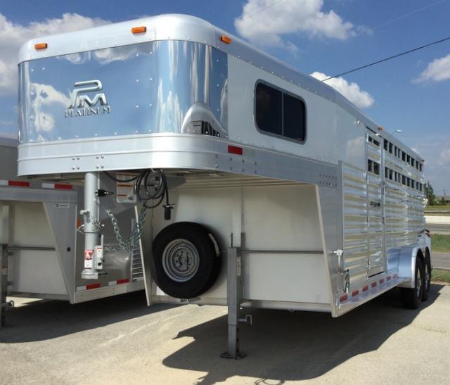 2018 Platinum Coach 20 ft Combo Sport Livestock Trailer