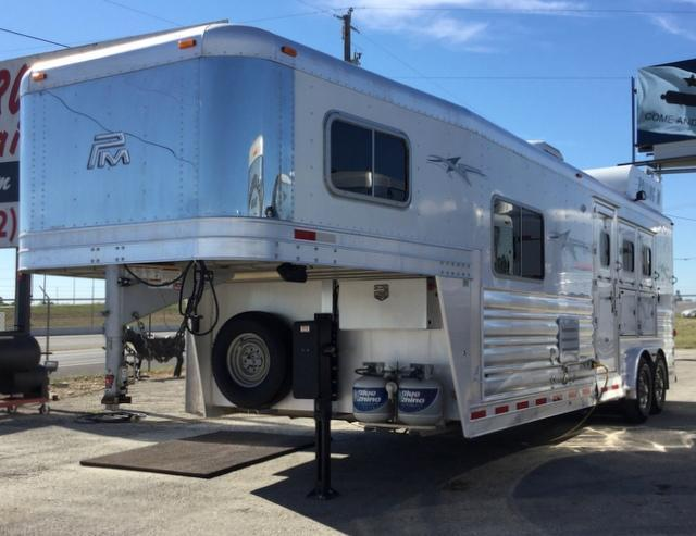 2012 Platinum Coach 3 HORSE 10 FT SHORT WALL **GENERATOR** Horse Trailer