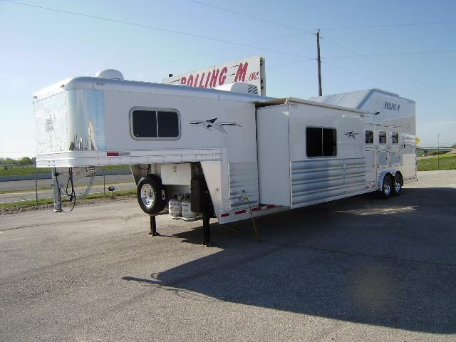 2014 Platinum Coach 4 Horse 15' Short Wall Side Load w/Slide Out Horse Trailer