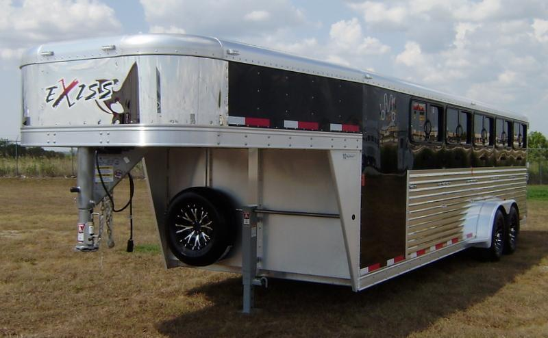2016 Exiss 24' Low Profile Gooseneck Stock Trailer