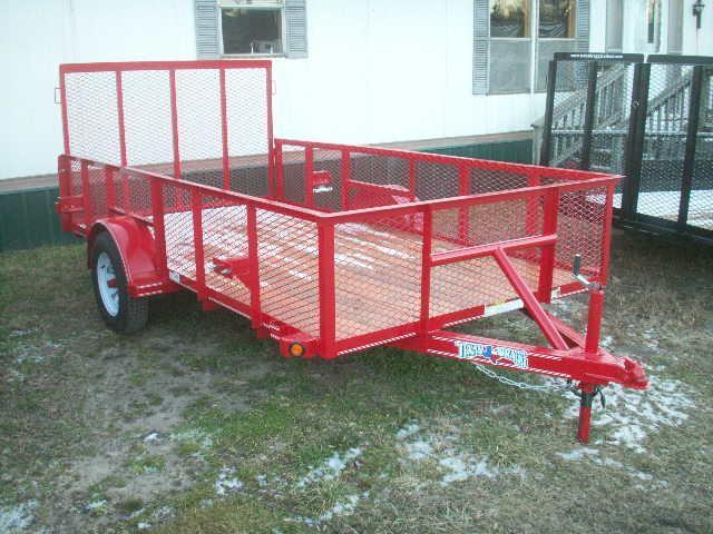 2018 Texas Bragg Trailers 12 LANDSCAPE MESH SIDES A SERIES Utility Trailer