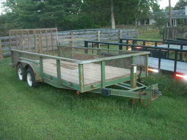 2003 International 14 HD Landscape BP Utility Trailer