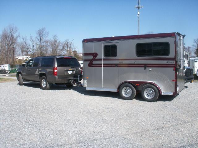2013 Hawk Trailers 2-H TB DR RM WITH REAR RAMP Horse Trailer