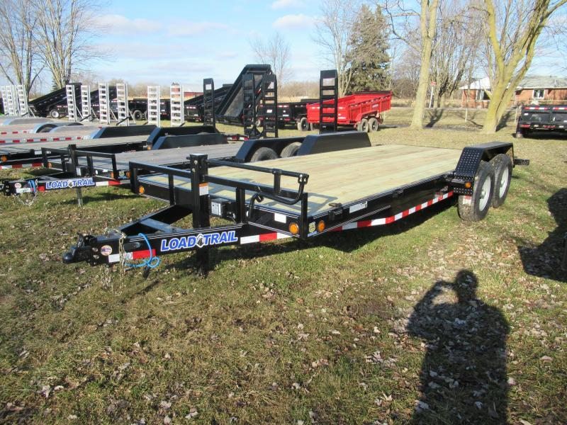 "Load Trail 20""  14K Car Hauler Trailer W/Dove Tail and Ramps"