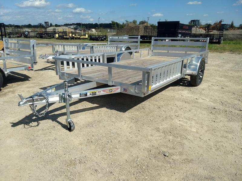 2018 H and H Trailer 82X14 RAILSIDE ALUM ATV 3K