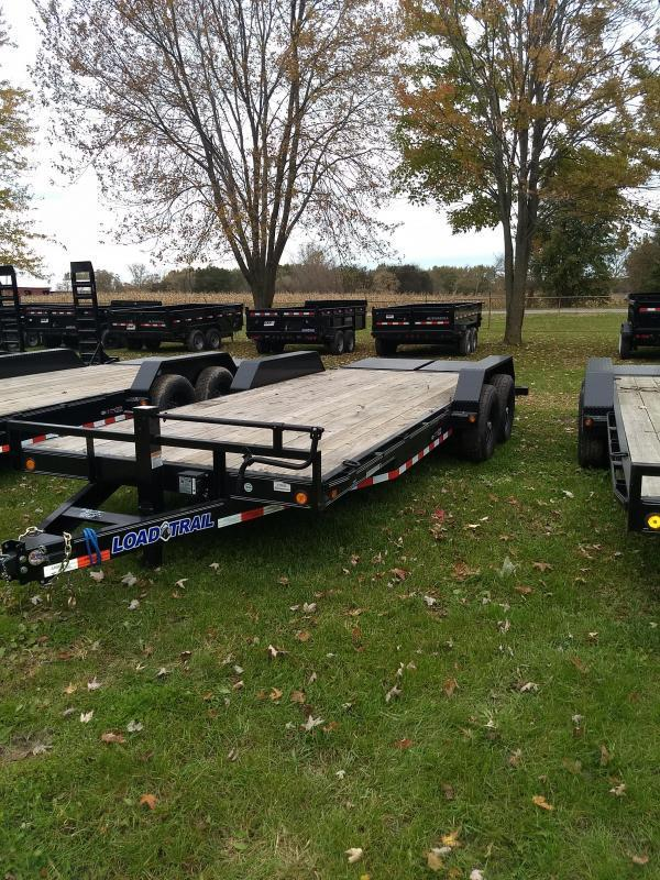 Load Trail 22' 14K Equipment Trailer W/ Max Ramps And Rub Rail