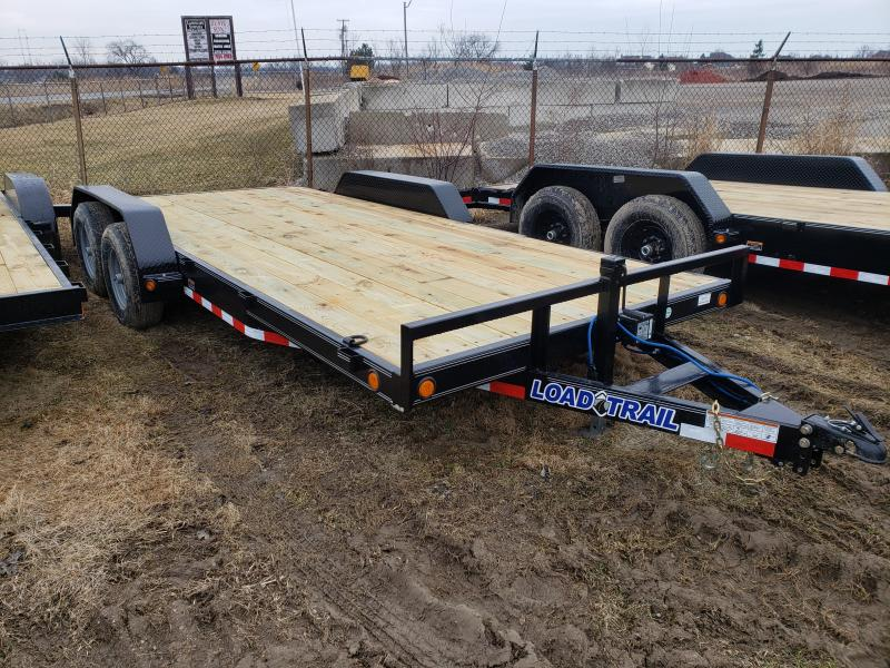 New 18' 10K Load Trail Car hauler Trailer W/Dove Tail & Slid In Ramps