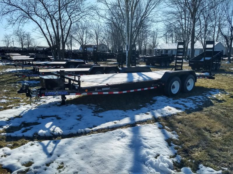 2017 Load Trail 80x22 16K Equipment Trailer Loaded