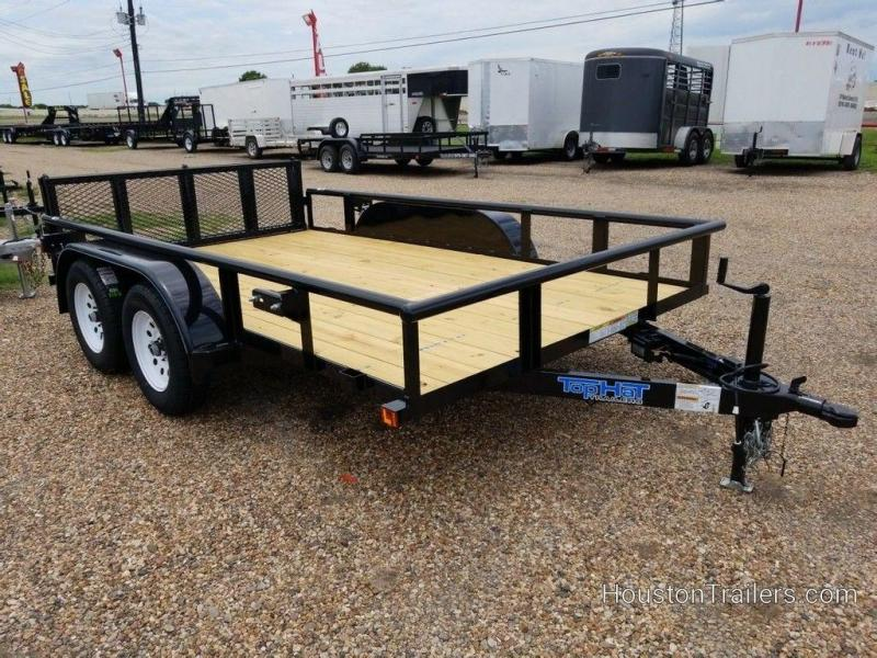 "2019 Top Hat Medium Pipe 83"" x 12' Utility Trailer TH-202"