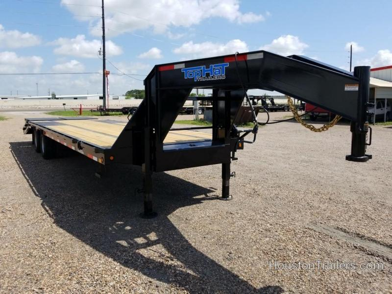 2019 Top Hat Trailers 25' + 5' GN259HD Flatbed Trailer TH-209
