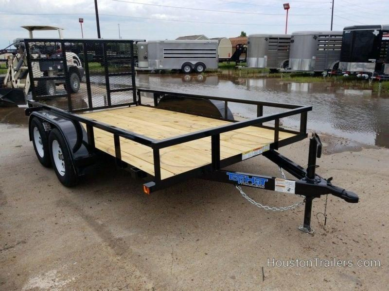 "2019 Top Hat Light Duty 77"" x 12' Utility Trailer TH-208"