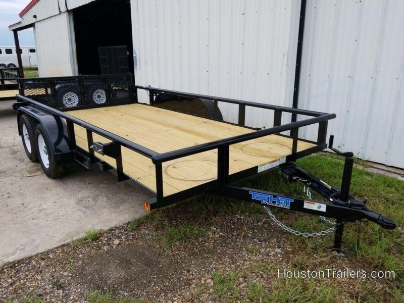 "2019 Top Hat Medium Pipe 83"" x 14' Utility Trailer TH-201"