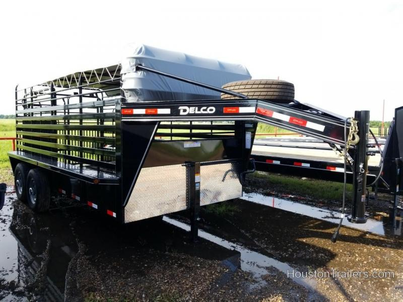 2018 Delco Trailers 16' Bar top Livestock / Cattle Trailer DEL-35