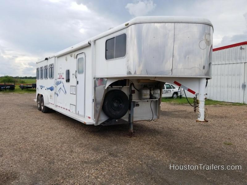 2005 Logan Coach Aluminum XT 4 Horse LQ Shortwall 8' Trailer CO-1050