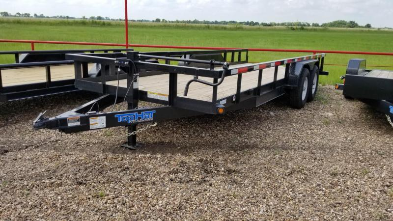 2017 Top Hat Trailers 20' x 7' HH 14k Utility TH-55