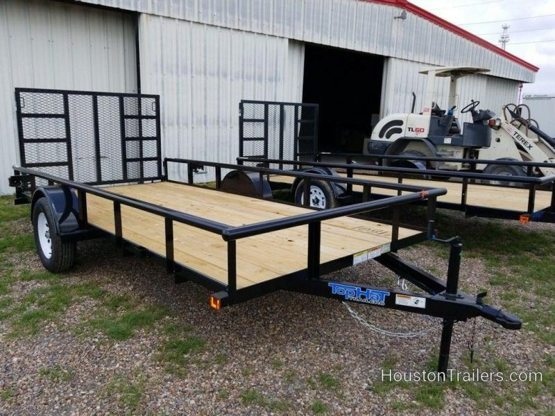 "2019 Top Hat Derby Sr Angle 77"" x 14' Utility Trailer TH-188"