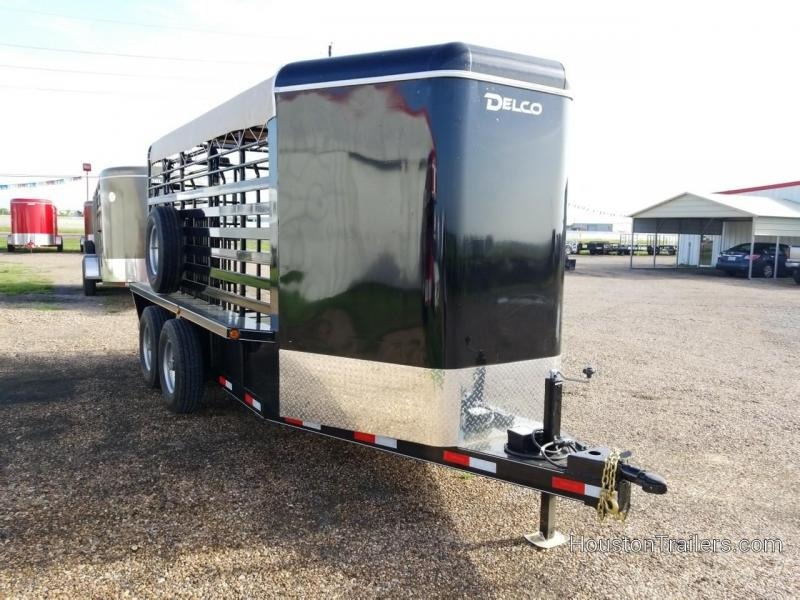2018 Delco Trailers 16' Bar Top Livestock Trailer Bumper Pull DEL-38