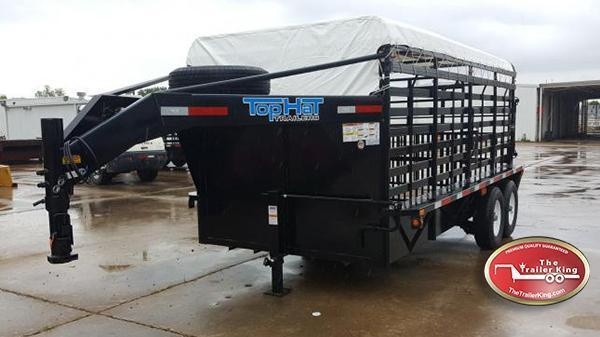 "2017 Top HatTrailers 16' x 6'8"" Brahma Livestock Trailer TH-44"