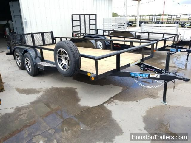 2018 Top Hat Trailers 16' x 6.5' MP Utility Trailer Alum Wheels + Spare TH-102