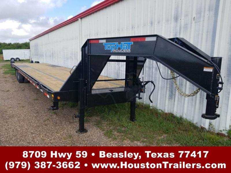 2019 Top Hat Trailers 40' GN 259 HD Flatbed Trailer TH-139