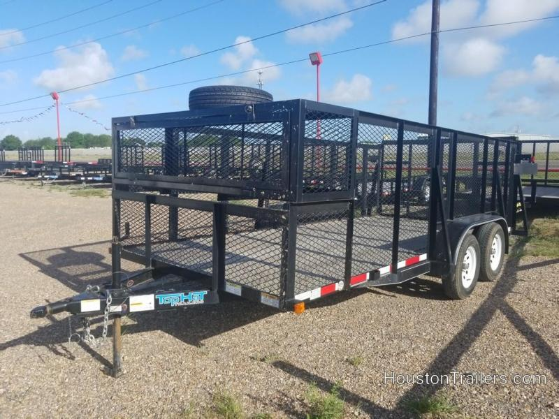 2015 Top Hat Trailers 16' Landscape Rental Utility Trailer 8060-Rental