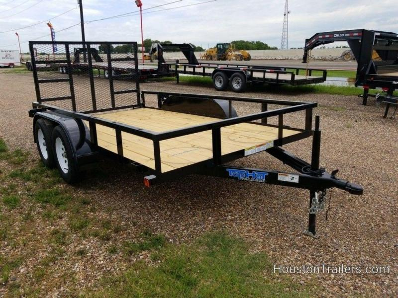"2019 Top Hat Light Duty 77"" x 12' Utility Trailer TH-207"